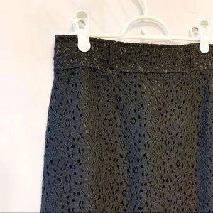 NWT Amelia Floral Black Midi Skirt